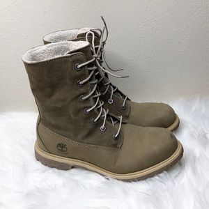 Timberland Teddy Leather Fold Down Boot Womens 8.5